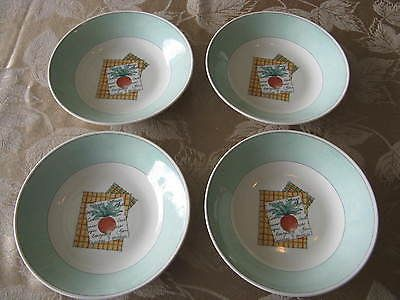 Set of 4 churchill #vegetable patch soup #cereal #bowls england - view resume