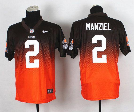 d63c4d71a5d Football Sports Jersey Men Women Youth Kids Johnny Manziel Cleveland Browns  2