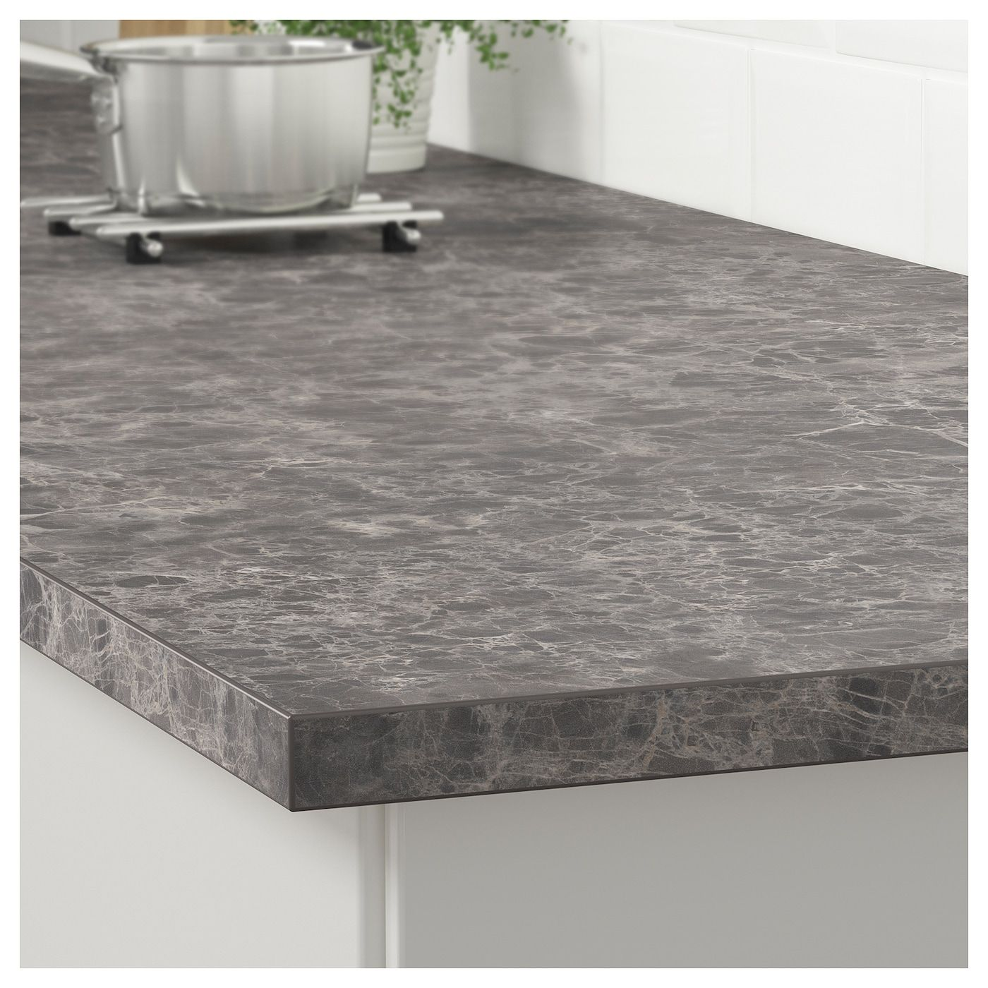 Ekbacken Countertop Dark Gray Marble Effect Laminate Marble