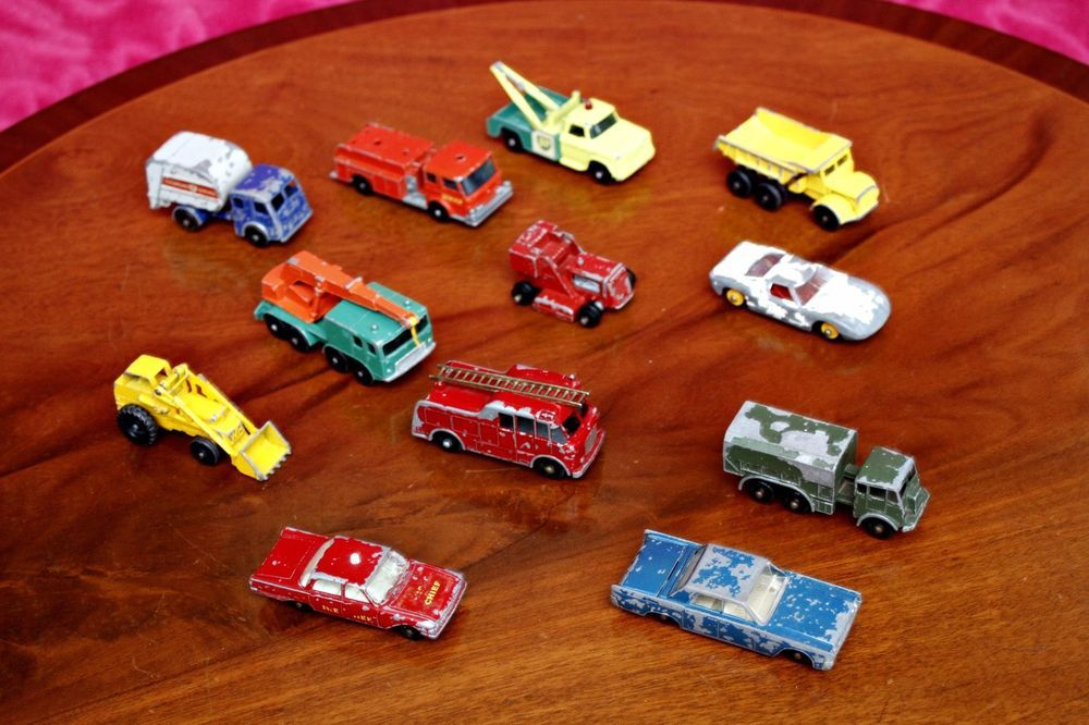 Vintage Lesney Matchbox Toy Cars No 6; 9; 13; 15; 24; 29