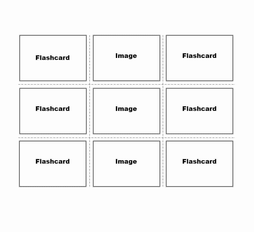 Free Flash Card Template Fresh 30 Simple Index Flash Card Templates Free Template Flash Card Template Note Card Template Card Templates Free
