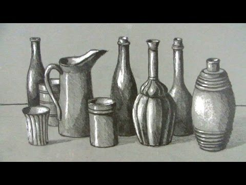 How to Draw a Still Life: Bottles and Jugs | How To Art ...