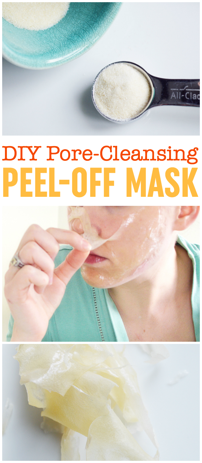 DIY Peel-Off Mask - Pore-Cleansing, Blackhead Busting Face Mask -   18 beauty Mask ideas