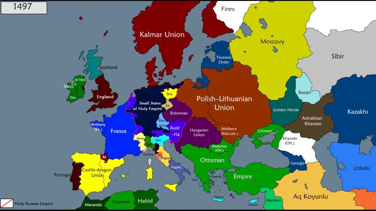 Map Of Europe 1200 History Of Europe 1200 1600 YouTube Best Map | Europe map, History