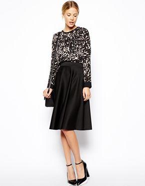 c7ca1c35f1 Full Midi Skirt in Scuba with Pockets | Style. | Full midi skirt ...