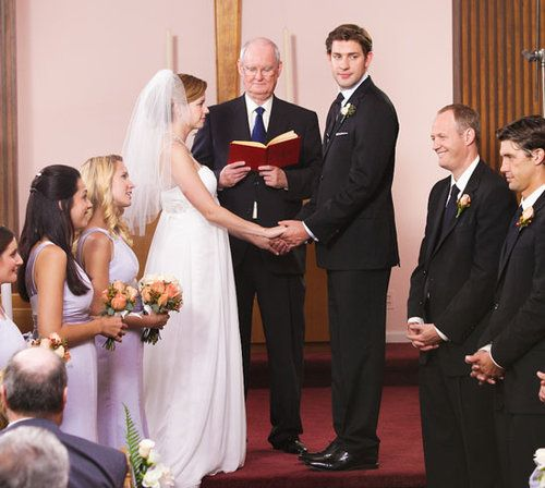 Jim And Pam Wedding.Jim And Pam Get Married On The Office Small Screen The Office