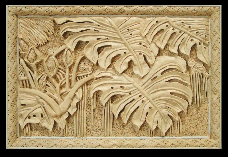Natural style artificial sandstone art relief sculptures