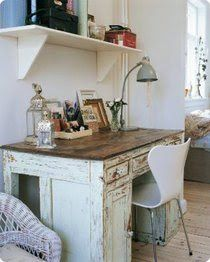 Ordinaire White Shabby Chic Distressed Desk Office