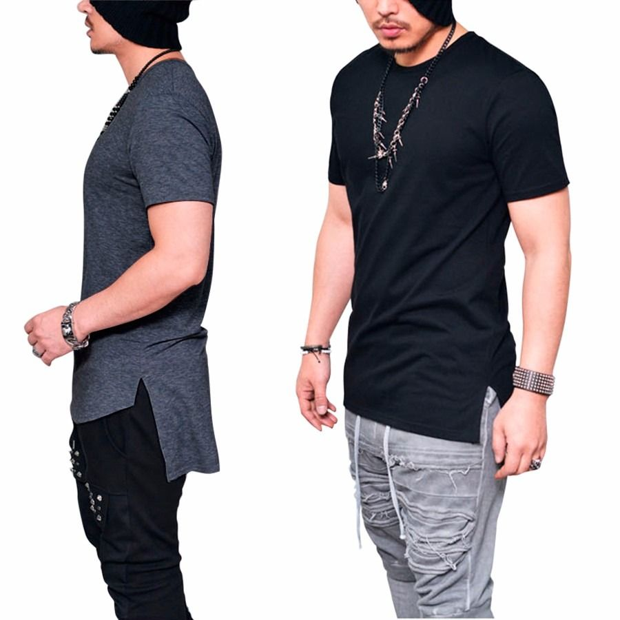cced3dfab Camiseta Camisa Longline Oversized Masculina Longa Alongada Lindaa ...
