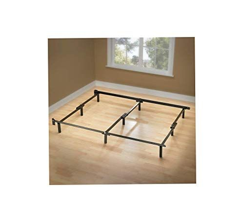 Wood Style Compack 9 Leg Support Bed Frame For Box Spring And