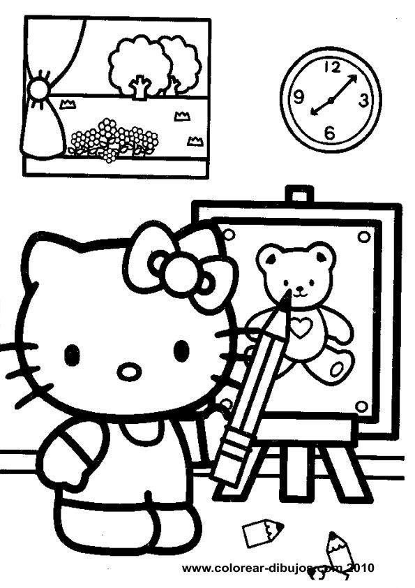 Dibujos De Hello Kitty Para Colorear Hello Kitty Para Colorear Y