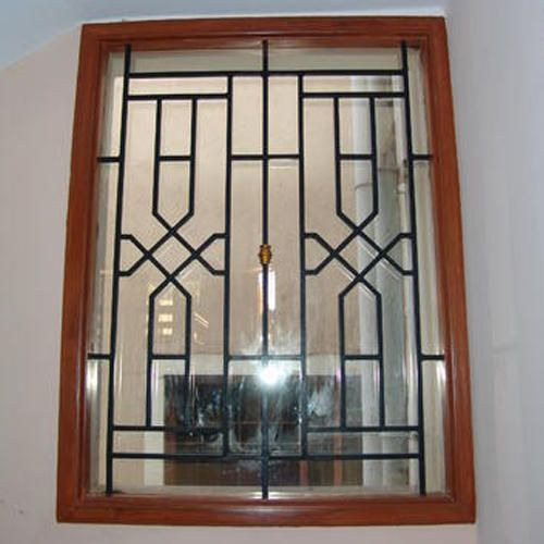 Stainless steel window grill window grill design for Iron window design house