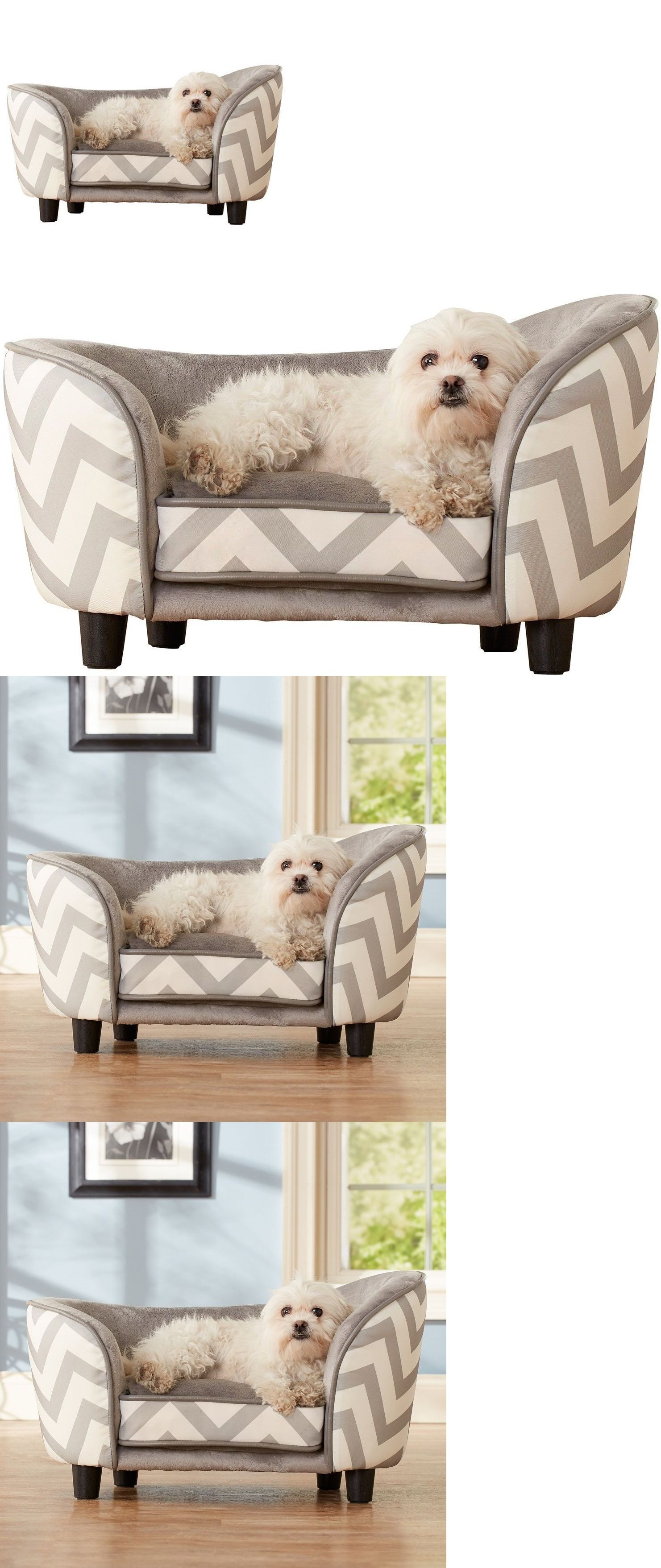 Beds 20744: Pet Sofa Small Dog Cat Bed Couch Furniture Raised Sleeper Foam  Cushion Chair