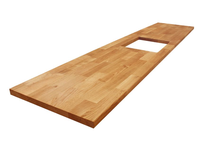 Where most of our Deluxe Oak worktops end up as kitchen surfaces - küchenarbeitsplatte buche massiv