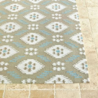 Suzanne Kasler Indoor Outdoor Ikat Rug European Inspired
