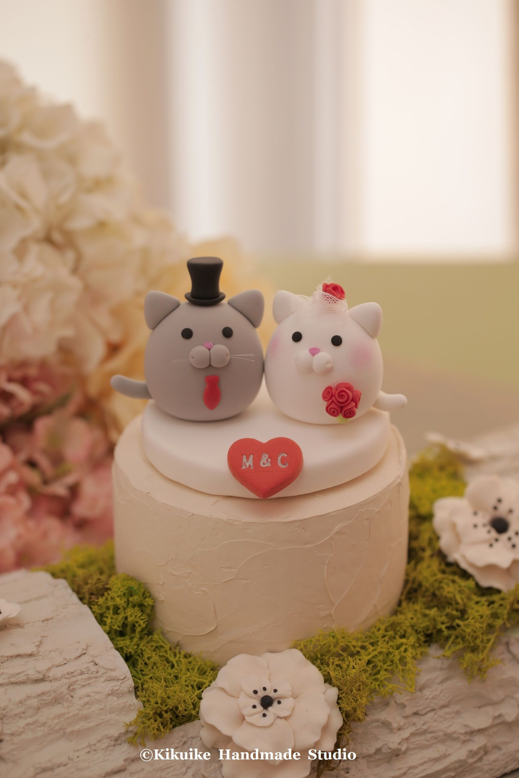 kitty and Cat wedding cake topper Wedding cake toppers