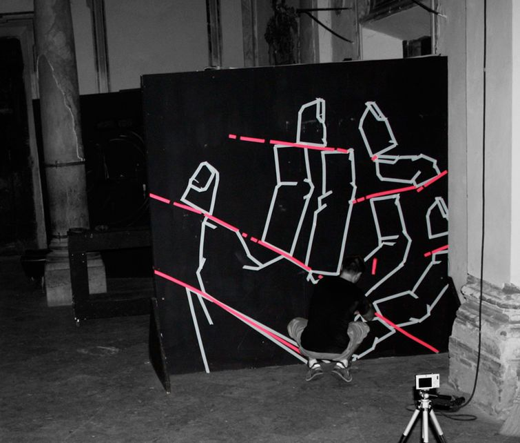 This Graffiti Made Of Tape Will Hold Your Attention Graffiti Tape Art Street Artists