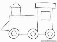 Menggambar Dan Mewarnai Kereta Api Mewarnai Gambar Train