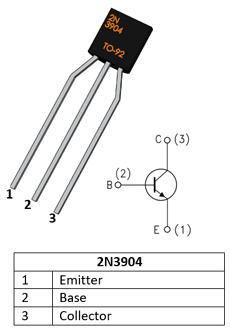 npn transistor 2n3904 pinout pin diagrams in 2019 diy Diode Pin Diagram