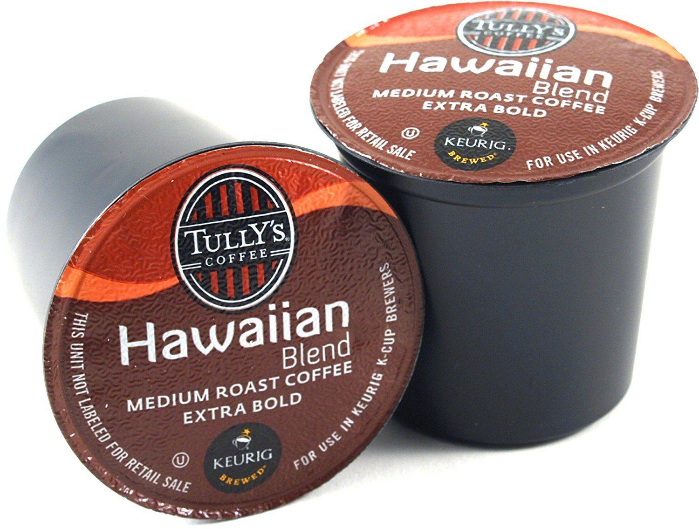 Tully's Hawaiian Blend Coffee Keurig KCups, 180 Count