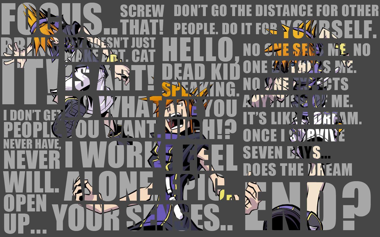 Twewy Twewy Neku Sakuraba Quotes Wallpaper By Roxas431