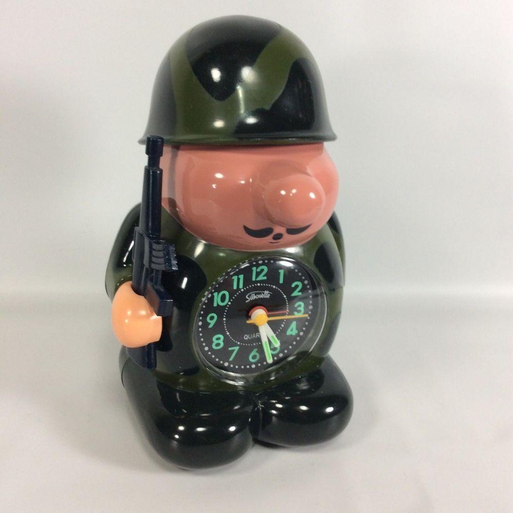 Soldier Novelty Alarm Clock Bugle Sound Alarm Works Tested 8 In Vintage Quartz Alarm Clock Clock Novelty