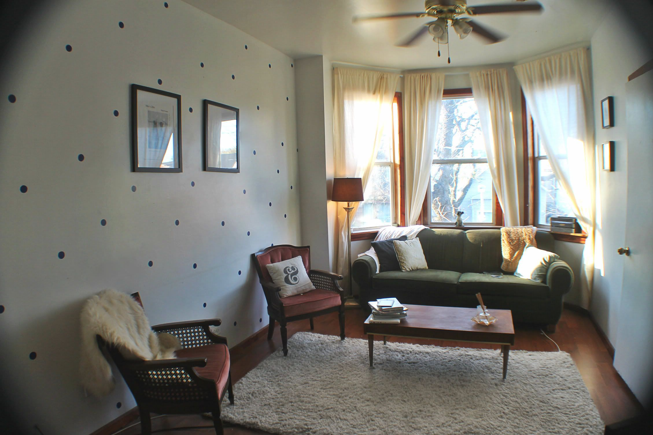 Decorating ideas for living room walls radical possibility dot pattern on living room walls  diy home