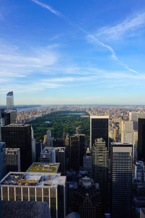 Central Park from Top of The Rock, NYC