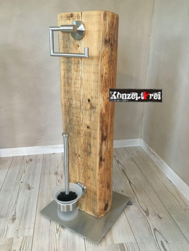 Zum Verkauf Steht Hier Ein Absolutes Unikat Aus Dem Hause Konzeptfrei Dieses Wc Set Wurde In Handarbeit Von Uns Hergestellt Recyceltes Holz Aus Gaste Wc Mobel Wc Mobel Und Badezimmer Rustikal