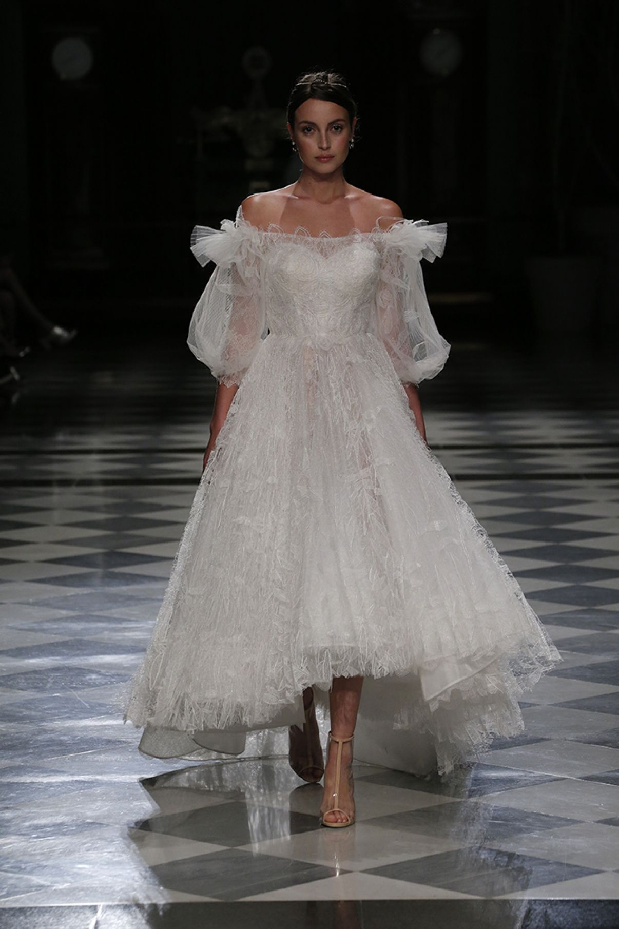 Custom made wedding dress  NAMCHA haute couture bride dresses romantic bride dresses high