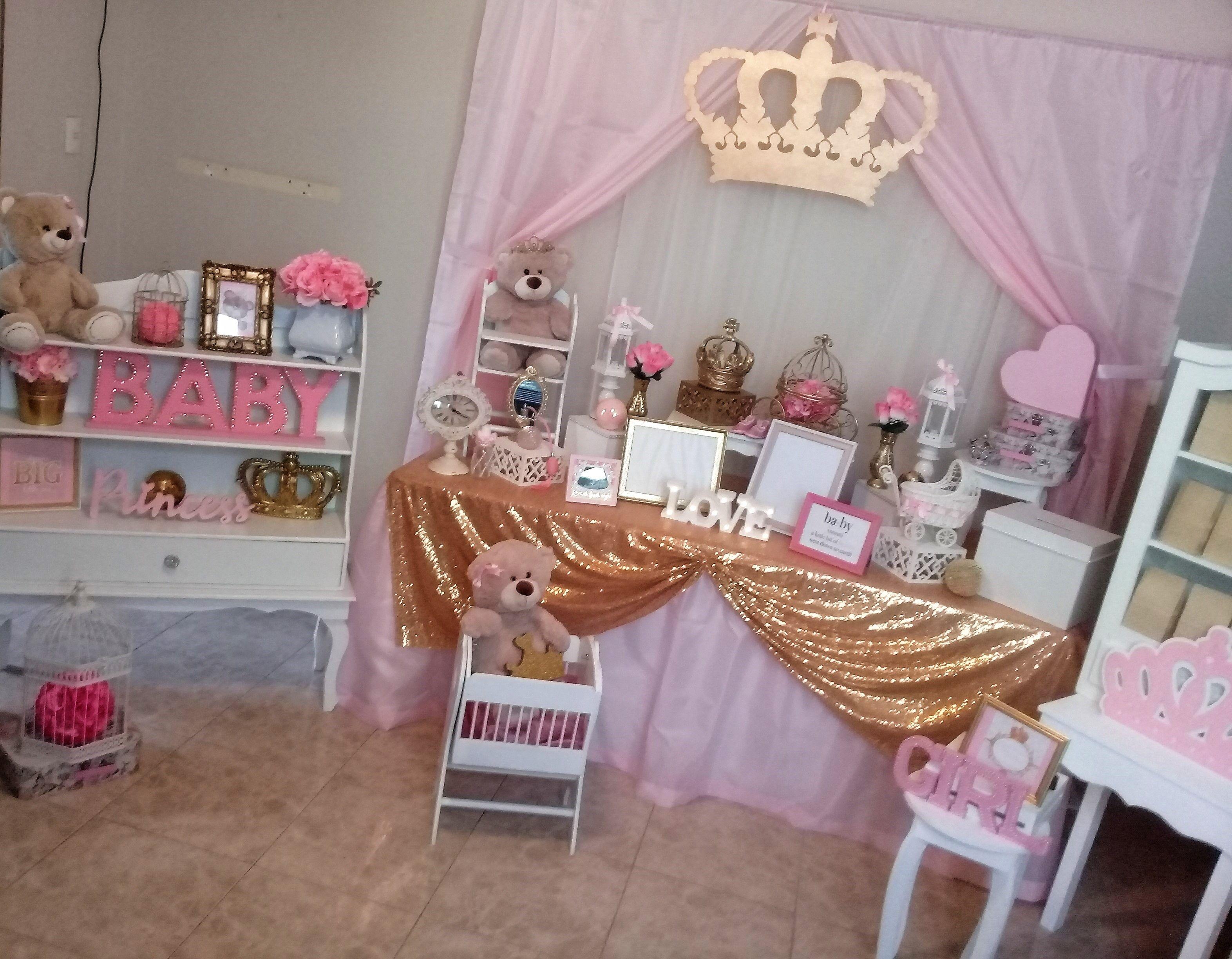 Mesa Baby Shower Nina.Mesa De Ambientacion Baby Shower Nina Tema Ositas Princesa