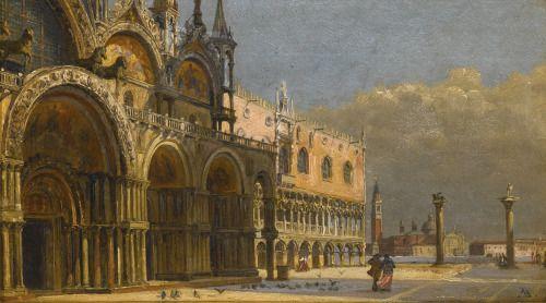 Antonietta Brandeis - A Windy Day, Saint Mark's Square