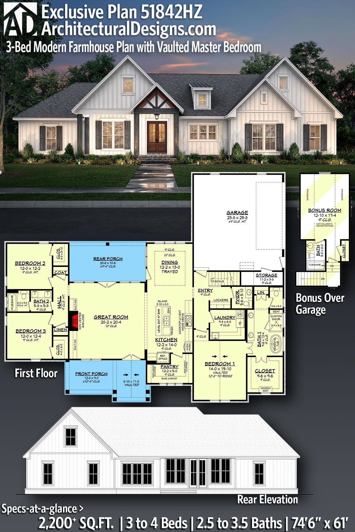 42+ 3 bedroom farmhouse floor plans type