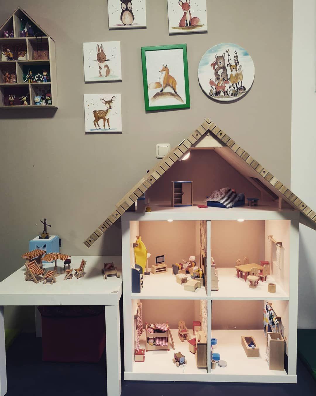 Ikea Expedit Puppenhaus 21 Wandfolie Lille Stuba F R