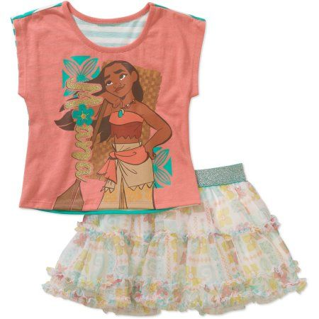 Disney Moana Girls T-Shirt and Skirt Set