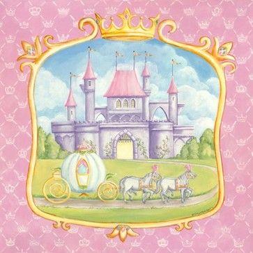 Oopsy Daisy Too Princess Castle Wall Art - contemporary - kids decor ...