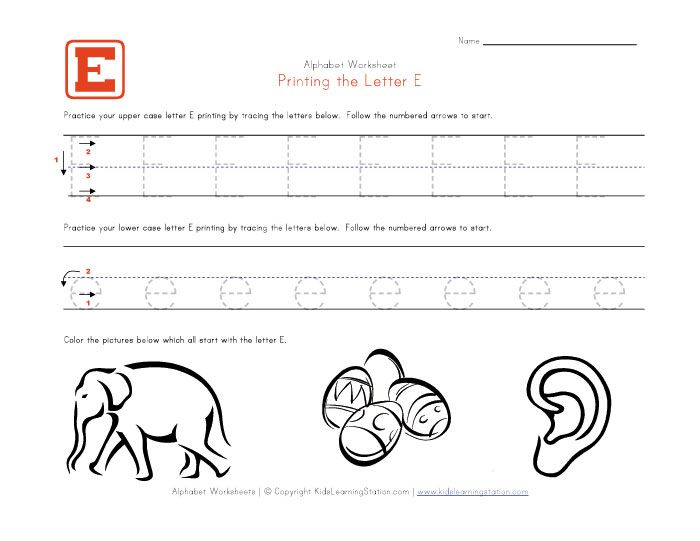 All Worksheets Letter E Worksheets For Preschool Printable – Letter E Worksheets for Kindergarten