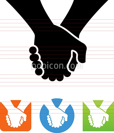 Holding Hands Affection Support Vector Icon Vector Icons Icon Hands Icon