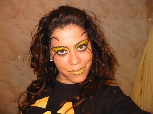 maquillada para el disfraz de abeja maya petalo1987 Halloween