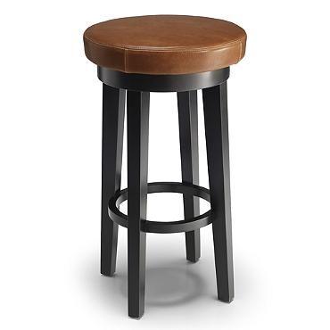 169 Counter Height Dublin Leather Swivel Bar Stool