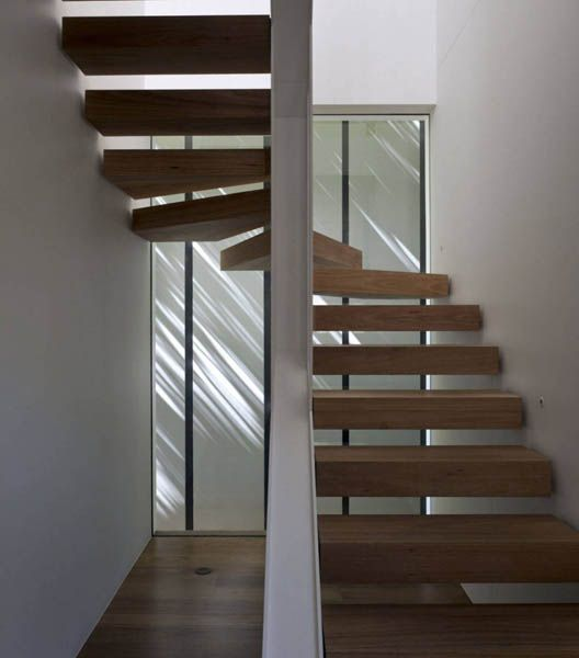 Suspended Style 32 Floating Staircase Ideas For The: Modern House Addition That Connects Skirt Plus Rock House