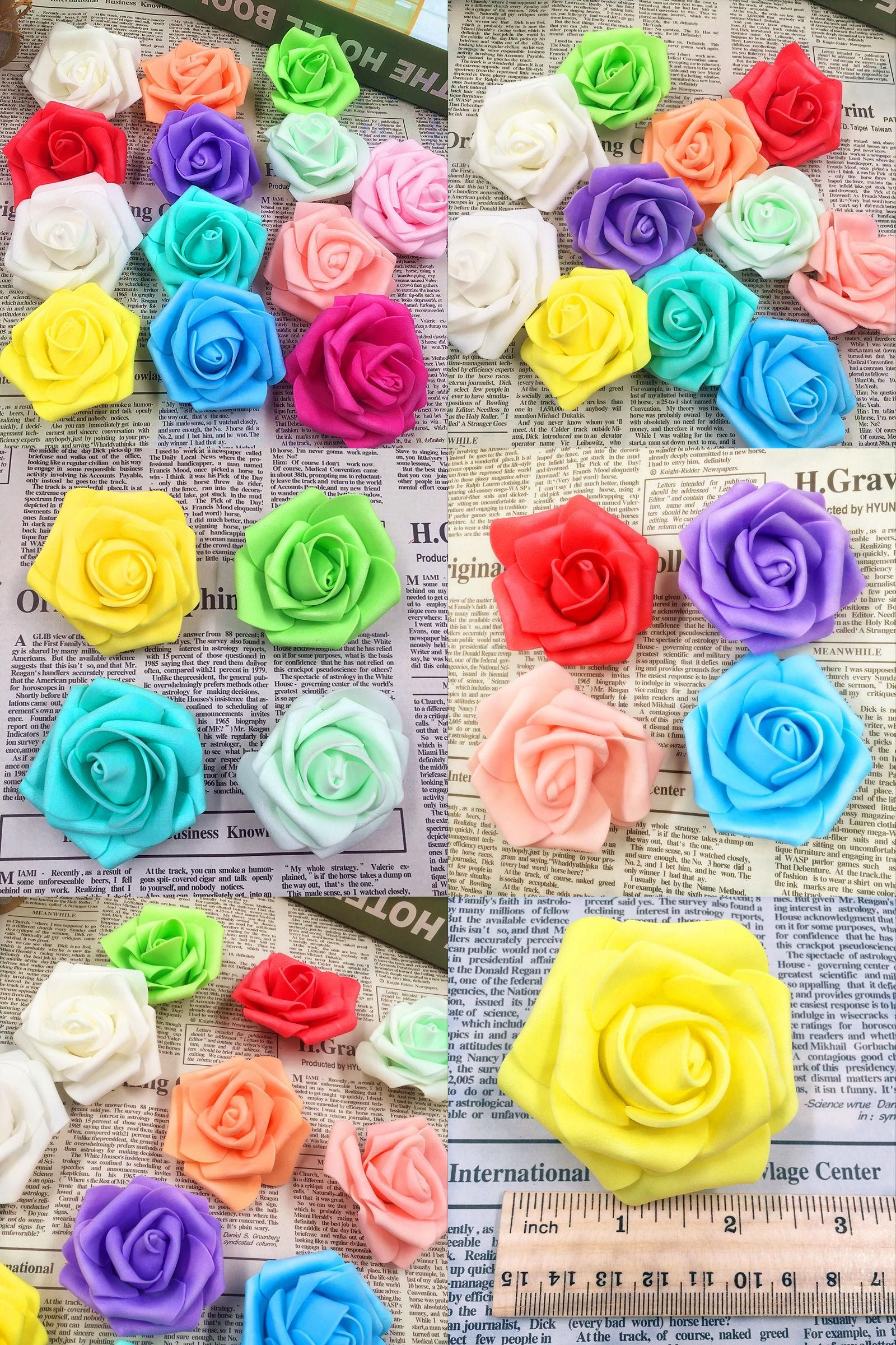 Visit to buy 10 pcs6 cmflower cheap artificial flowers foam visit to buy 10 cmflower cheap artificial flowers foam roses headdiy wedding car in collage home decoration arts and crafts izmirmasajfo