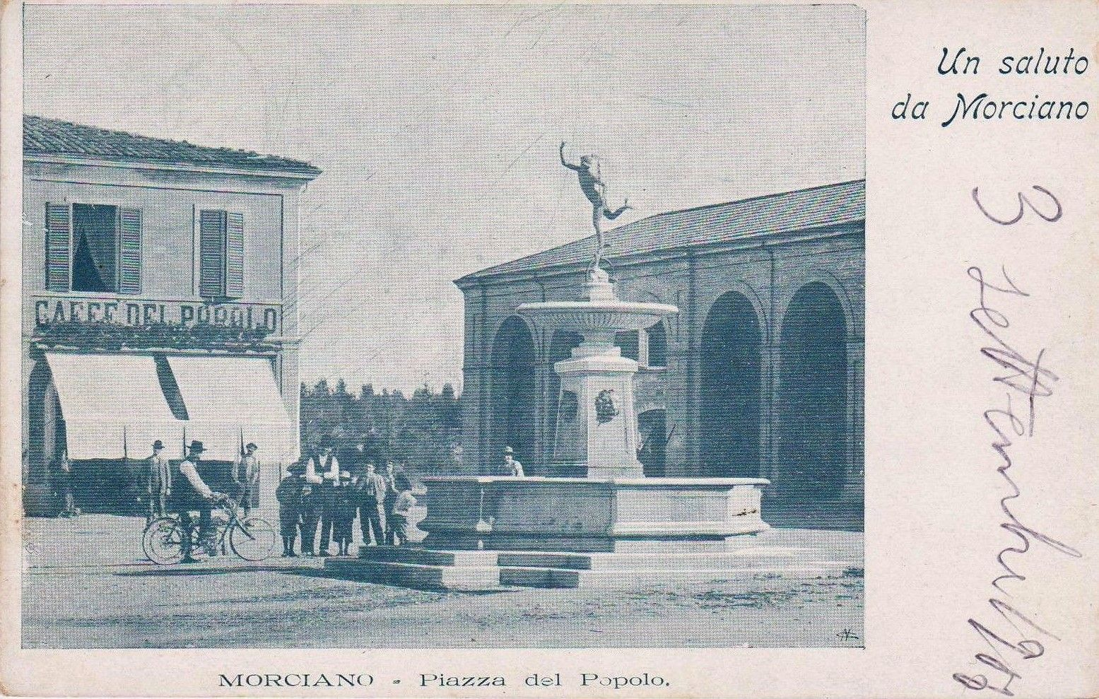 1906 Morciano - Piazza del Popolo Caffè del Popolo