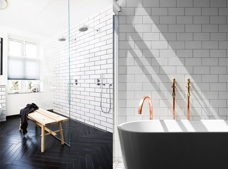 Witte tegels in huis badkamer wet rooms