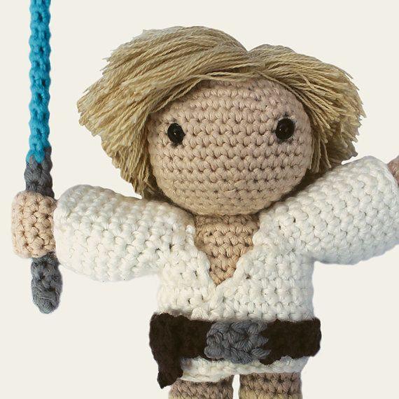 Luke Skywalker Star Wars. Amigurumi Pattern PDF DIY por Mindundia ...