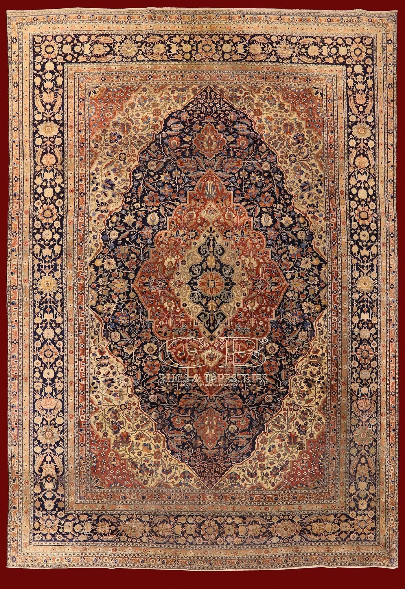 Kashan Mohtasham Rug Iran 400 X 290 Cm 13 12 X 9 51 Ft Cod 141608439706 Persian Rug Designs Antique Carpets Rugs