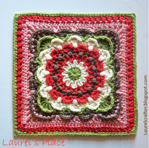 Crochet Flower Squares Shared By Laurels Place Crochet