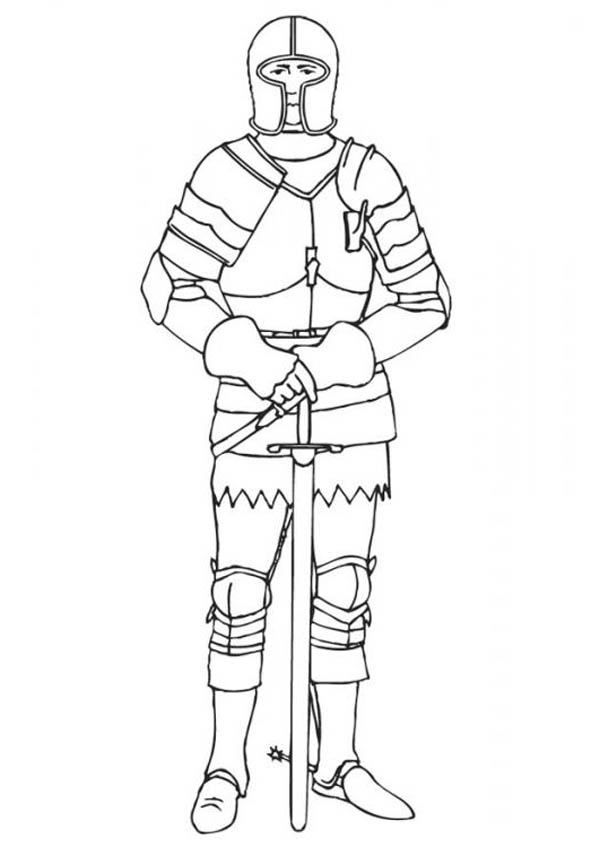 Picture Of Knight Coloring Page Coloring Sky Coloring Pages Funny Easy Drawings Printable Coloring Book