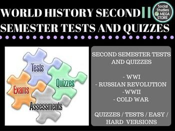 World History Tests Second Semester World History World History