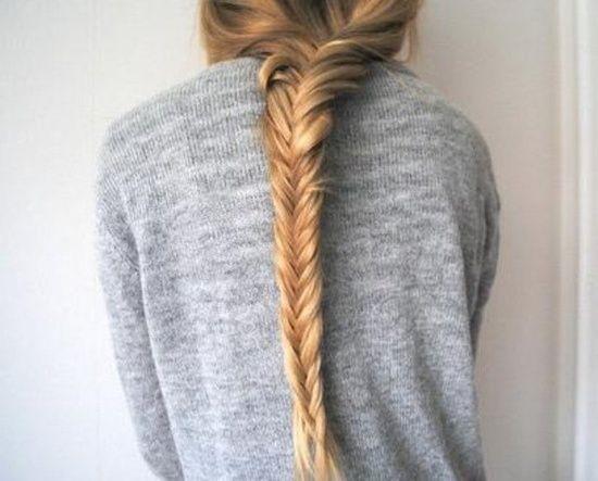 Trenza de espiga Peinados para pelo largo Pinterest Peinados